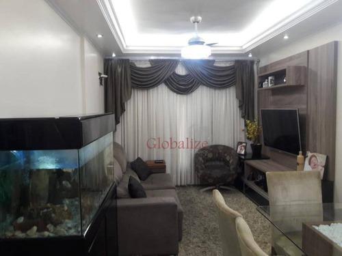 Apartamento Com 3 Dormitórios À Venda, 117 M² Por R$ 479.000,00 - Marapé - Santos/sp - Ap0177