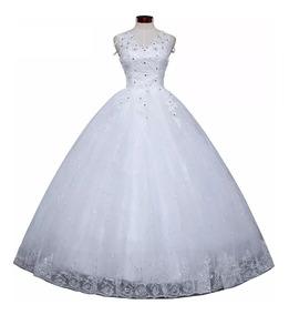 Vestido De Noiva Nb01 Bordado Barato Frete Gratis Promoção