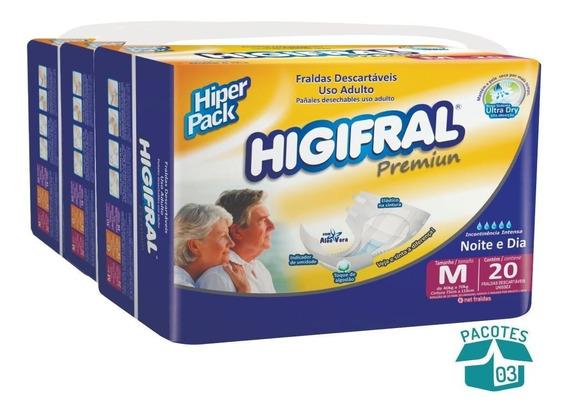 Fralda Geriátrica Higifral Premium 3 Pcts.