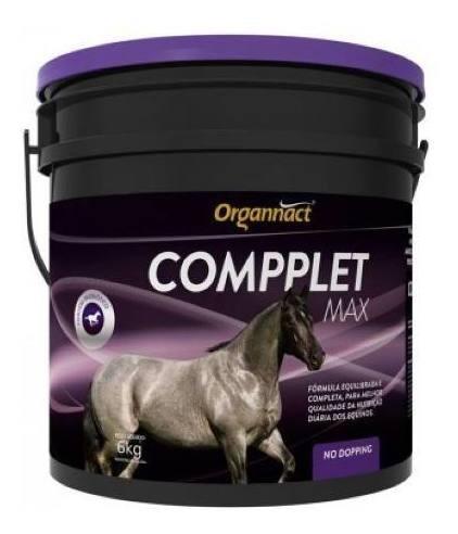 Compplet Max 6 Kg Organnact 6kg P/ Cavalo - Pet Shop Store