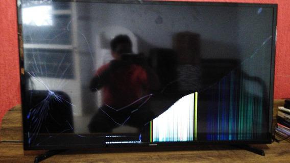 Tv De Led 43 Samsung Modelo Un43j5200agxzd (tela Quebrada)