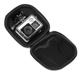 Case Mini Maleta Eva Go Pro Hero 4 5 6 7 Eken Câmera De Ação