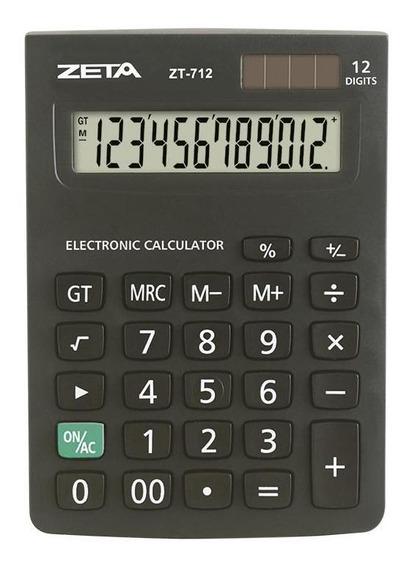 Calculadora De Mesa 12 Dígitos Zeta Zt712