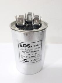 Capacitor Permanente Duplo 25+2,5 Mfd 380v Eos Com Terminal