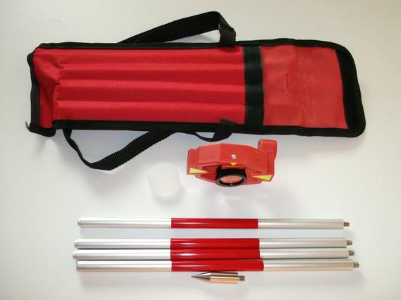 Miniprisma Con Mini Bastón Y 4 Extenciones Para Uso Con Estacion Total