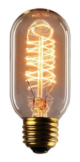 Foco Vintage Filamento De Carbono T45 40w Socket E27 2700k