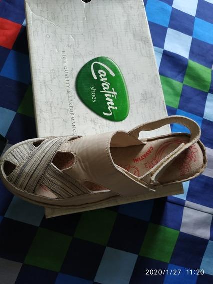 Sandalias Cavatini Confort Cuero 100%