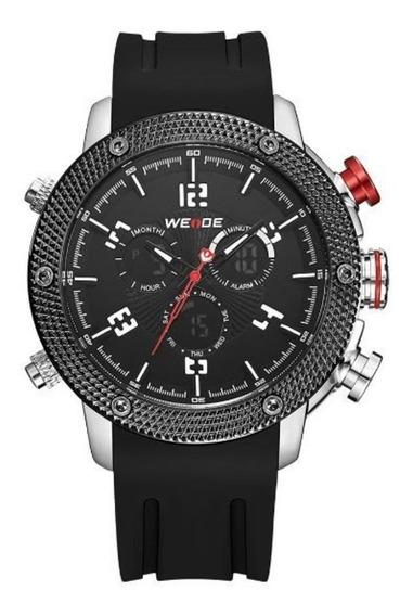 Relógio Masculino Weide Wh-5206 Anadigi Preto/vermelho C/ Nf