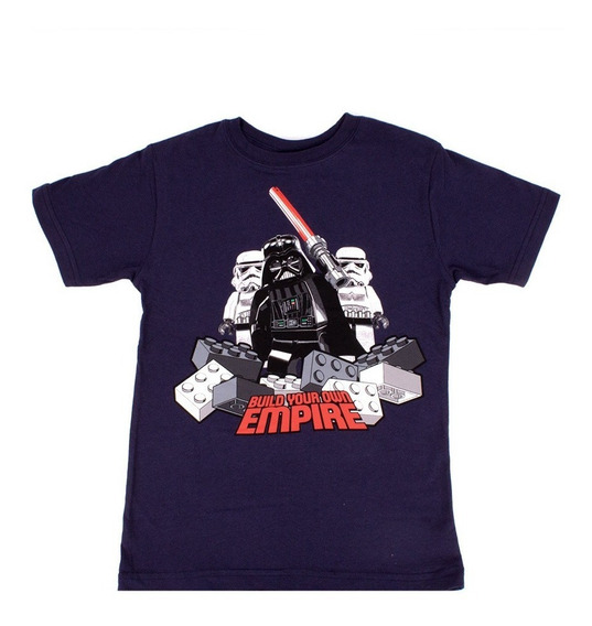 Playera Para Niño Lego Estampado Star Wars Team Darth Vader