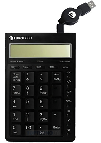 Teclado Numerico Usb + Calculadora Solar 2 En 1 Todo En 1 ®