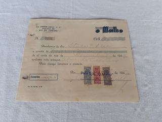 O Malho Revista Recibo 1940 Selo Fiscal Memorabilia