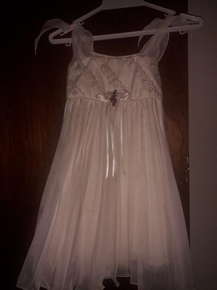 Lindo Vestido Para Bautizo Color Crema, Talla 4