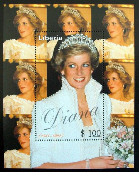 Liberia, Bloque Princesa Diana 2007 1 Sello Mint L5621
