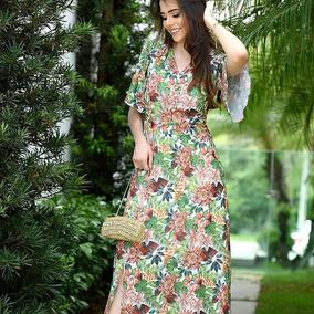 Vestido Longo,floral ;sol Da Terra.