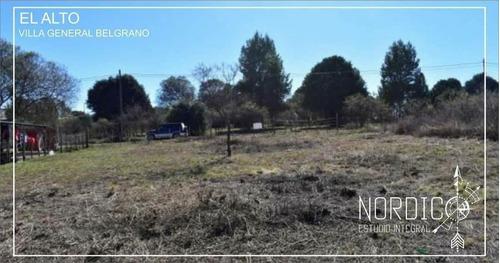 Imagen 1 de 3 de Villa General Belgrano- Barrio El Alto