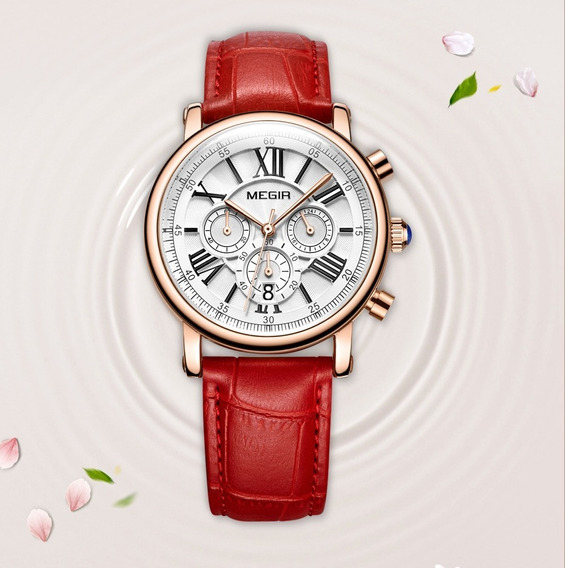Relógio Feminino Megir Coleção Impecável + Frete Grátis