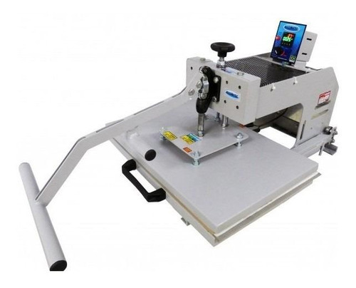 Prensa sublimadora e transfer manual Maquinatec 40x60 Bandeja Deslizante branca 110V