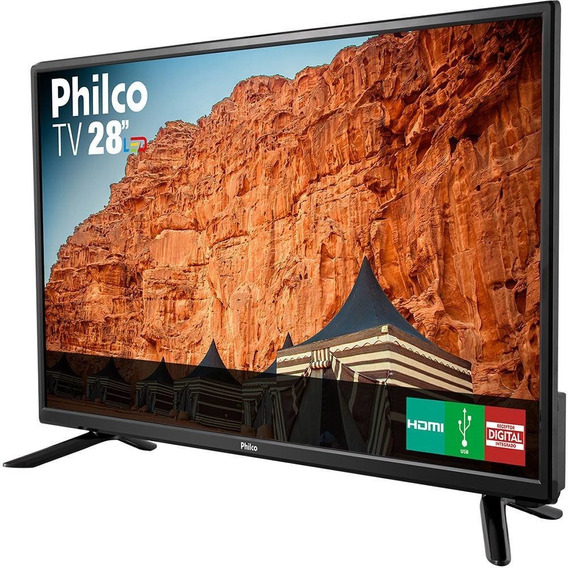 Tv Led 28 Philco Ph28n91d Preta Hd 1 Hdmi Conversor Digital