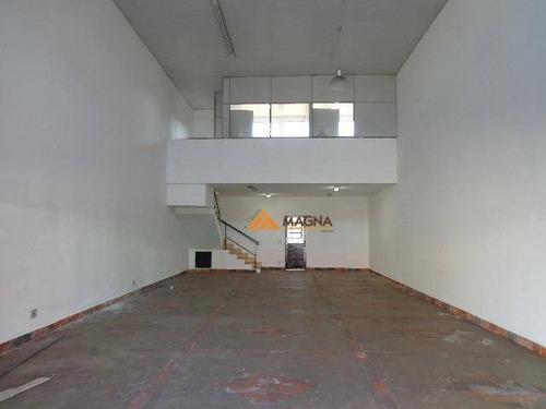 Salão Para Alugar, 113 M² Por R$ 4.500,00/mês - Campos Elíseos - Ribeirão Preto/sp - Sl0248
