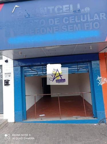 Salão Para Alugar, 55 M² Por R$ 3.000,00/mês - Matriz - Mauá/sp - Sl0065