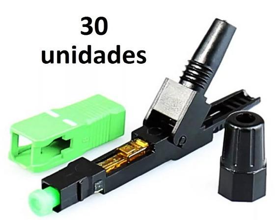 Conector Rápido Fibra Sc-apc Verde Reutilizavel Kit 30 Unid.