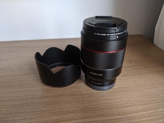 Lente Rokinon 50mm F 1.4 Af Auto Focus, Para Camera Sony Ff