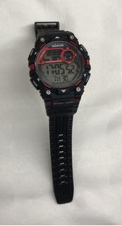 Reloj Mistral Rojo Y Negro Hombre Original