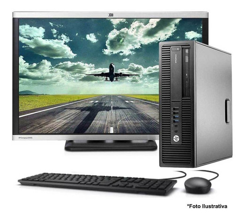 Computador Hp Elitedesk 800 Core I5 4gb 160gb Monitor 22