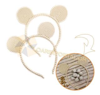 10 Vinchas Minnie Mouse Perlas Orejas Delicadas