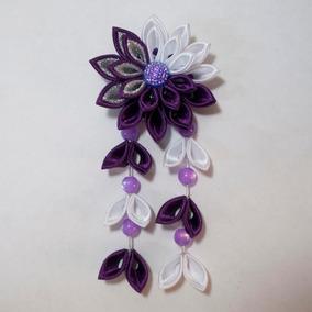 Enfeite De Flor P/ Cabelo - Kanzashi. Modelo Margy