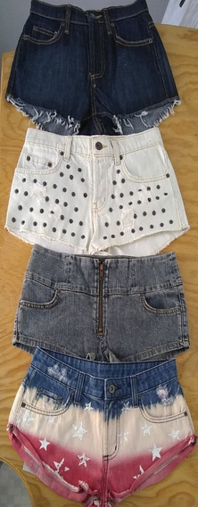 Shorts De Mezclilla Para Mujer (varios Colores)