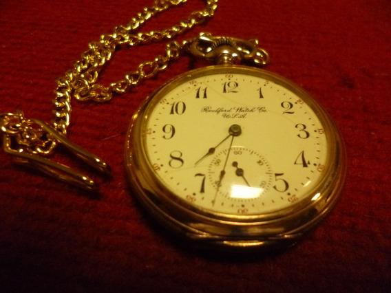 Relógio De Bolso, Rockford Watch Co. Made In Usa, 1918