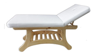 Camilla Oriental, Masajes Reductores,100% Pino,reclinable.