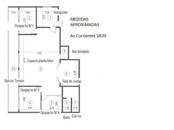 Alquilo Av Corrientes Y Av Callao - Oficina - Vig 24hs Cocheras -