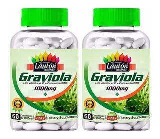 Graviola 1000mg - 2x 60 Comprimidos - Lauton