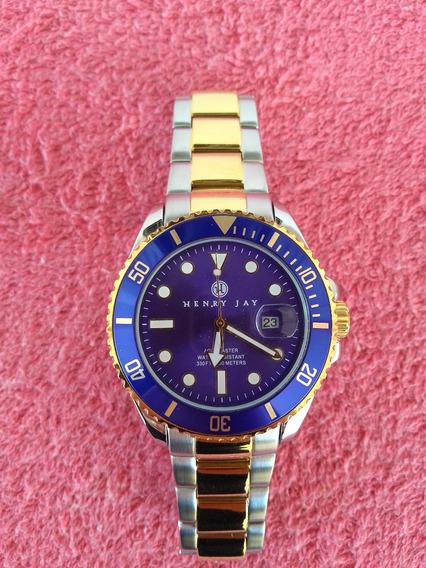 Relógio Original Importado - Henry Jay Mens 23k Gold