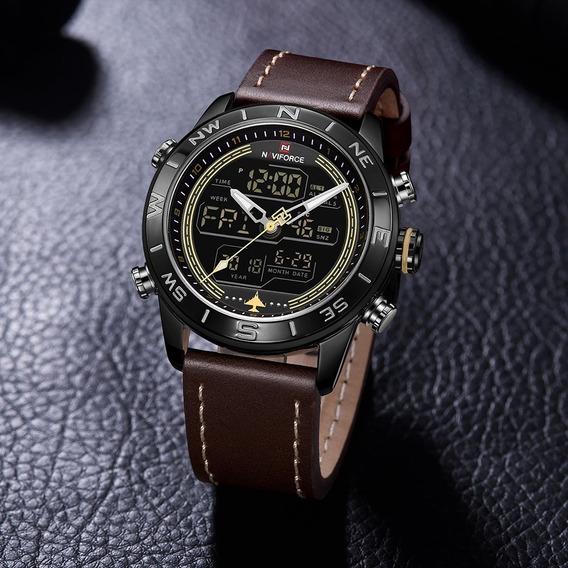 Relógio Naviforce 9144 - Marrom & Preto