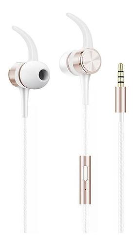 Fone De Ouvido Flex Com Fio, Com Microfone,branco/rose Gold,