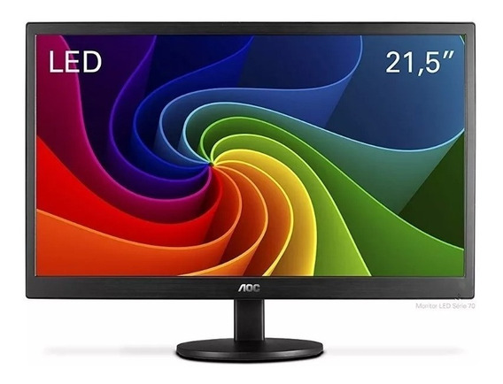 Monitor Aoc 21,5 Led E2270swn Wide Vesa Full Hd