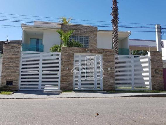 Casa Com 4 Dormitórios À Venda, 300 M² Por R$ 1.390.000 - Itaipu - Niterói/rj - Ca1090