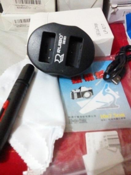 Carregador Bateria Lp-e Duplo Usb Canon 5d 6d 70d 80d +lens