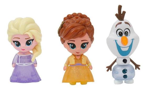 Mini Bonecos Frozen 2 Elsa, Anna E Olaf Fun Divirta-se