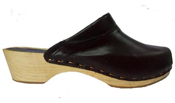 Zapato Sueco Ortopedico Con Suela De Madera Varios Colores