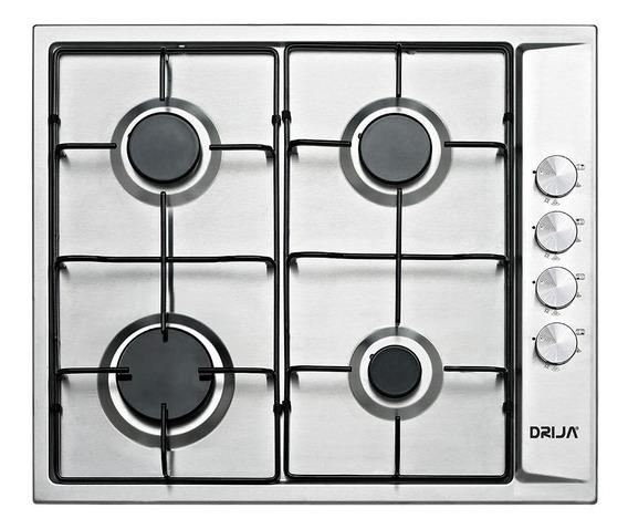 Cocina 4 Hornillas Tope Empotrable A Gas Turin 60cm Drija