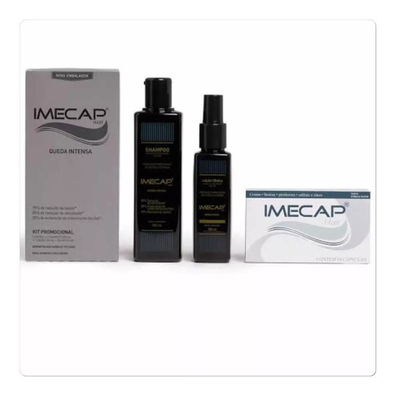 Imecap Hair Queda Intensa Kit Shampoo+ Loção + 30 Cápsulas
