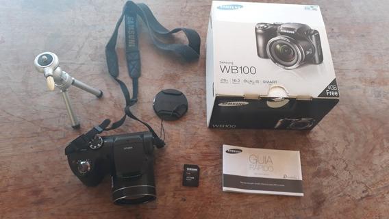 Câmera Fotográfica Samsung Wb100 Semi Profissional
