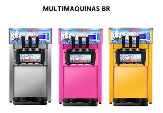 Máquina De Sorvete Expresso 3 Bicos Balcao Açaí Ou Frozen