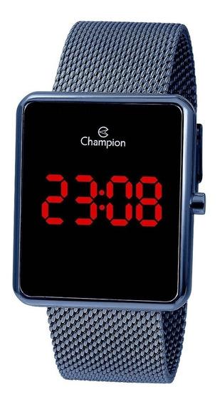 Relógio Feminino Champion Digital Led Ch40080f - Azul