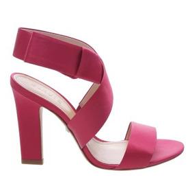 Sandalia Schutz Original Salto Cetim Pink S2046700010002