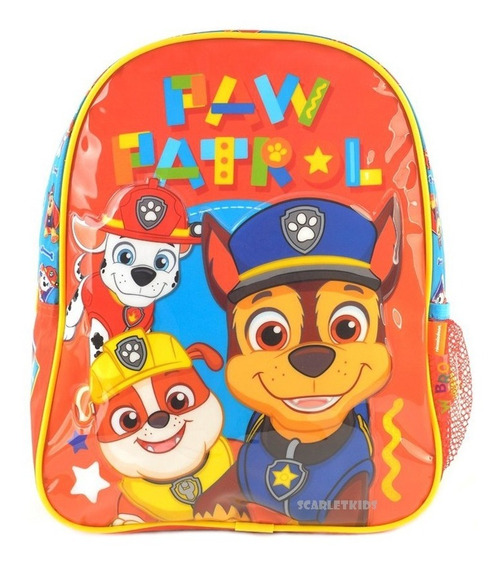 Mochila Espalda Paw Patrol 12 P Nena Jardin Disney Original